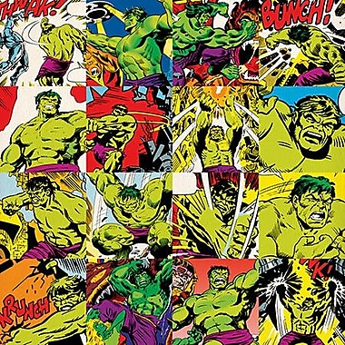iCanvas Marvel Comics Hulk Grid Graphic Art on Canvas; 12'' H x 12'' W x 0.75'' D