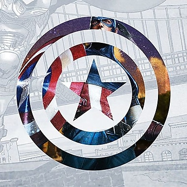 iCanvas Marvel Comics Captain America Shield II Graphic Art on Canvas; 26'' H x 26'' W x 0.75'' D