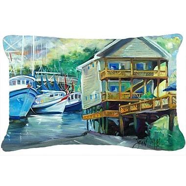 Caroline's Treasures Ocean Springs Harbour Landing Indoor/Outdoor Throw Pillow