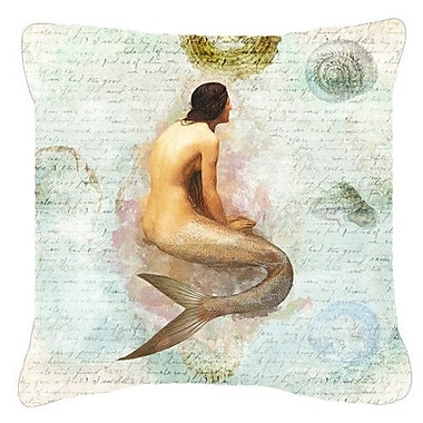 Caroline's Treasures Mermaids and Mermen Indoor/Outdoor Throw Pillow; 14'' H x 14'' W x 4'' D