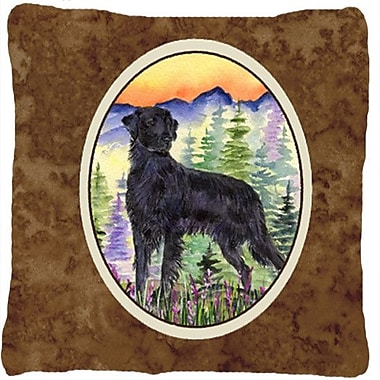Caroline's Treasures Flat Coated Retriever Indoor/Outdoor Throw Pillow