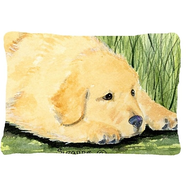 Caroline's Treasures Golden Retriever Indoor/Outdoor Throw Pillow
