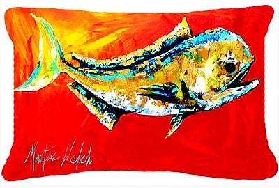 Caroline's Treasures Danny Dolphin Fish Indoor/Outdoor Throw Pillow