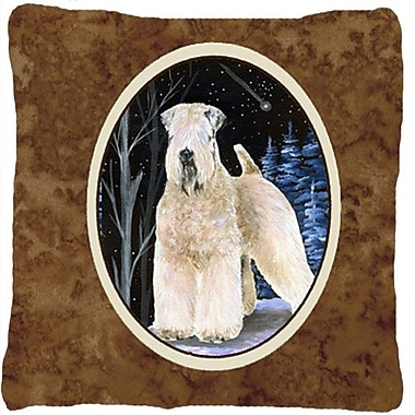 Caroline's Treasures Starry Night Wheaten Terrier Soft Coated Indoor/Outdoor Throw Pillow
