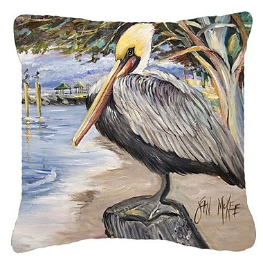 Caroline's Treasures Pelican Bay Indoor/Outdoor Throw Pillow; 14'' H x 14'' W x 4'' D