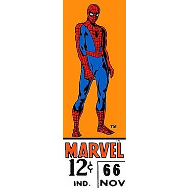 iCanvas Marvel Comics (Retro) - Book Spider-Man Price Tag Panoramic Vintage Advertisement on Canvas