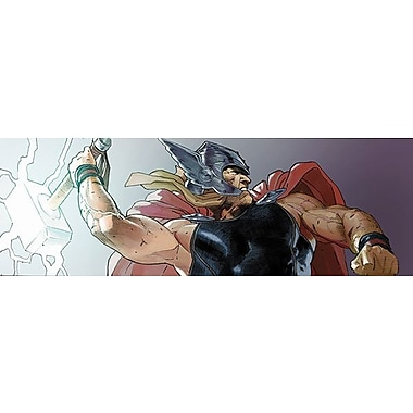 iCanvas Marvel Comics Thor Attack, Comic Book Poster Graphic Art on Canvas