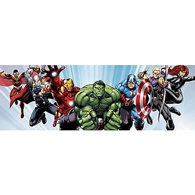 iCanvas Marvel Comics (Avengers) - Avenger Heroes Flying Panoramic Graphic Art on Canvas