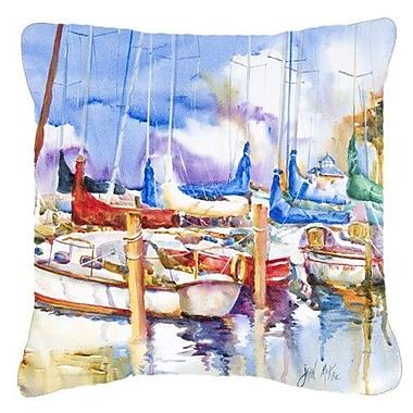 Caroline's Treasures Runaway Sailboats Indoor/Outdoor Throw Pillow; 18'' H x 18'' W x 5.5'' D