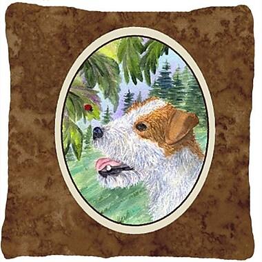 Caroline's Treasures Jack Russell Terrier Indoor/Outdoor Throw Pillow