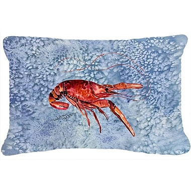 Caroline's Treasures Crawfish Indoor/Outdoor Throw Pillow