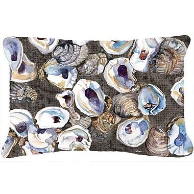 Caroline's Treasures Oysters Indoor/Outdoor Throw Pillow