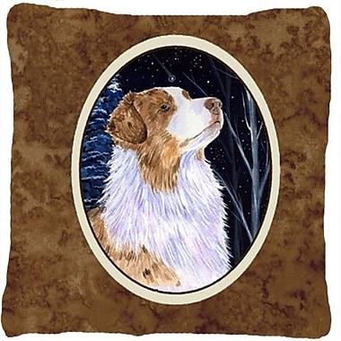 Caroline's Treasures Starry Night Australian Shepherd Indoor/Outdoor Throw Pillow