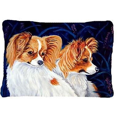 Caroline's Treasures Papillion Indoor/Outdoor Throw Pillow