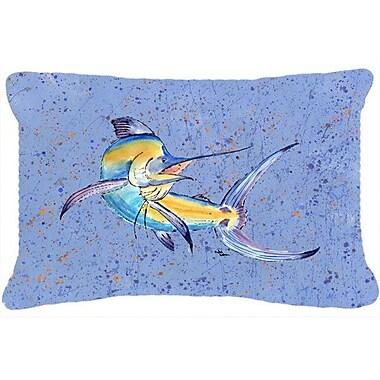 Caroline's Treasures Blue Marlin Indoor/Outdoor Throw Pillow
