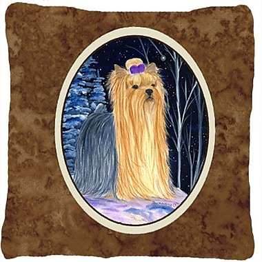 Caroline's Treasures Starry Night Yorkie Indoor/Outdoor Throw Pillow