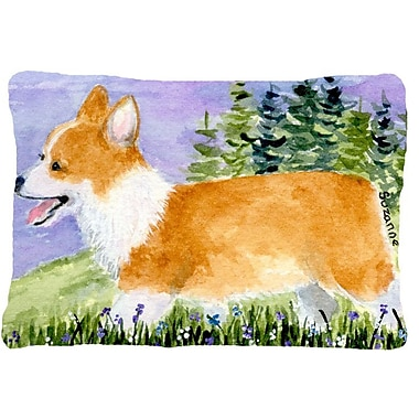 Caroline's Treasures Corgi Indoor/Outdoor Throw Pillow