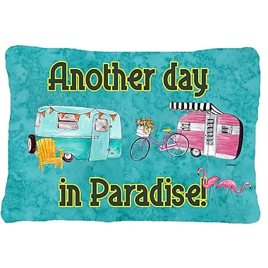 Caroline's Treasures Another Day in Paradise Indoor/Outdoor Throw Pillow