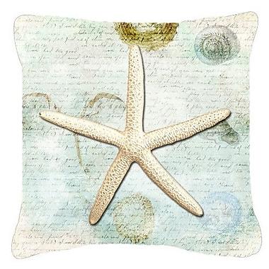 Caroline's Treasures Starfish Indoor/Outdoor Throw Pillow; 14'' H x 14'' W x 4'' D