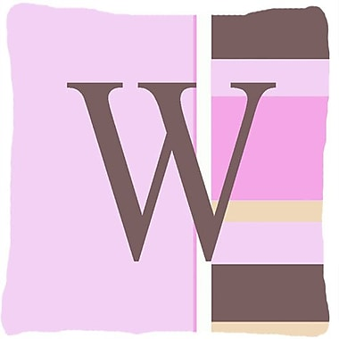 Caroline's Treasures Monogram Initial Pink Stripes Indoor/Outdoor Throw Pillow; W