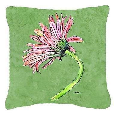 Caroline's Treasures Gerber Daisy Pink Indoor/Outdoor Throw Pillow; 14'' H x 14'' W x 4'' D