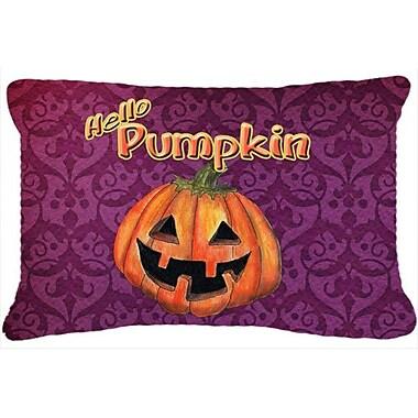 Caroline's Treasures Hello Pumpkin Halloween Indoor/Outdoor Throw Pillow