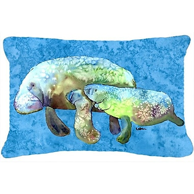 Caroline's Treasures Manatee Indoor/Outdoor Throw Pillow