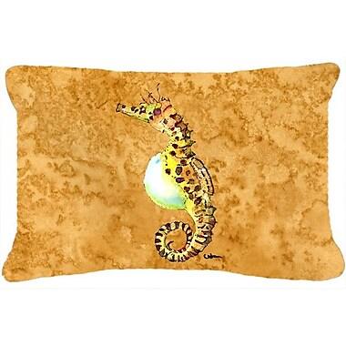 Caroline's Treasures Seahorse Indoor/Outdoor Throw Pillow