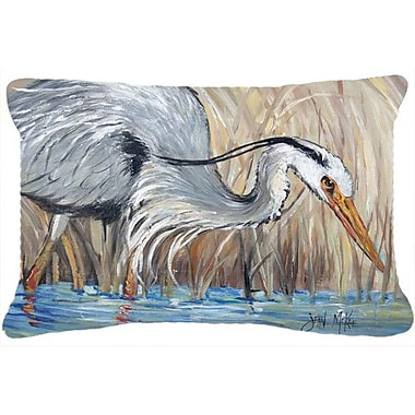 Caroline's Treasures Blue Heron in The Reeds Indoor/Outdoor Throw Pillow