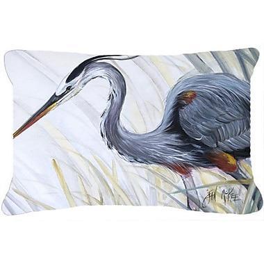 Caroline's Treasures Blue Heron Frog Hunting Indoor/Outdoor Throw Pillow