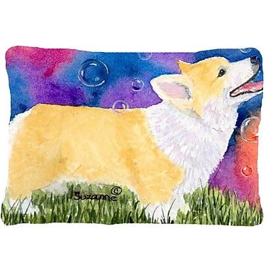 Caroline's Treasures Corgi Indoor/Outdoor Throw Pillow