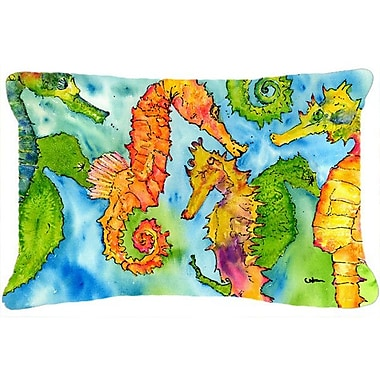 Caroline's Treasures Sea Horse Indoor/Outdoor Throw Pillow