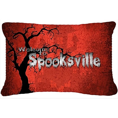Caroline's Treasures Welcome To Spooksville Halloween Indoor/Outdoor Throw Pillow