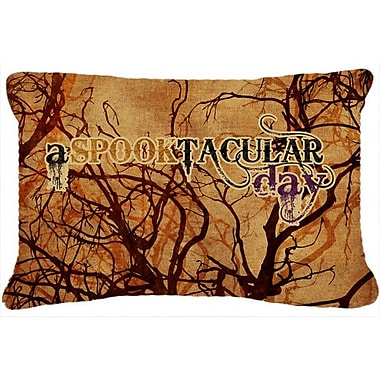 Caroline's Treasures A Spooktacular Day Halloween Indoor/Outdoor Throw Pillow