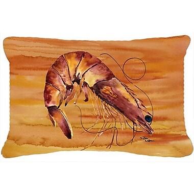 Caroline's Treasures Shrimp Indoor/Outdoor Throw Pillow; Brown