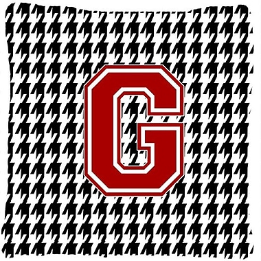 Caroline's Treasures Monogram Initial Houndstooth Indoor/Outdoor Throw Pillow; G