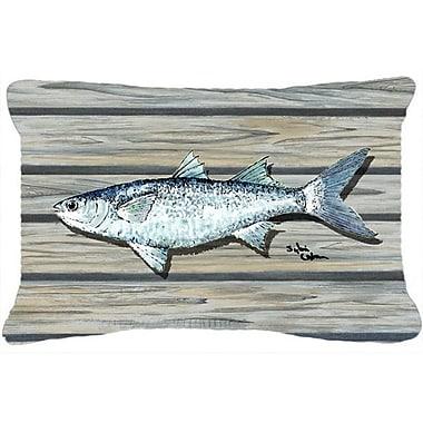 Caroline's Treasures Fish Mullet Indoor/Outdoor Throw Pillow