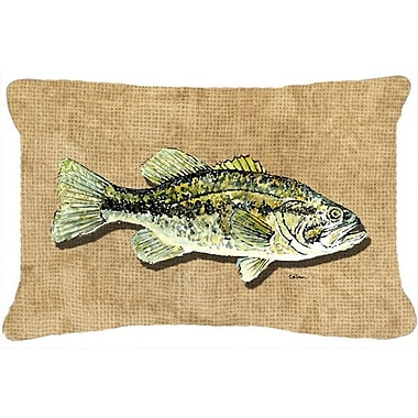 Caroline's Treasures Small Mouth Bass Indoor/Outdoor Throw Pillow