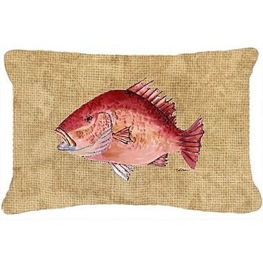 Caroline's Treasures Strawberry Snapper Indoor/Outdoor Throw Pillow