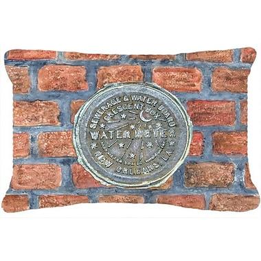 Caroline's Treasures New Orleans Watermeter on Bricks Indoor/Outdoor Throw Pillow