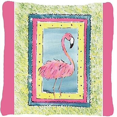 Caroline's Treasures Flamingo Indoor/Outdoor Throw Pillow; Pink