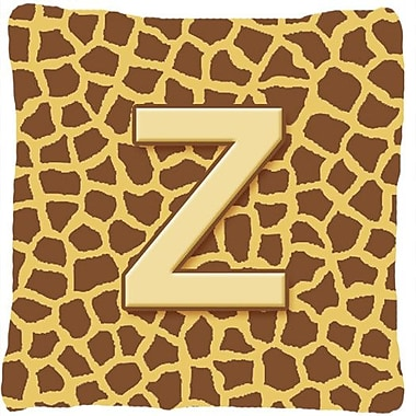 Caroline's Treasures Monogram Initial Giraffe Indoor/Outdoor Throw Pillow; Z