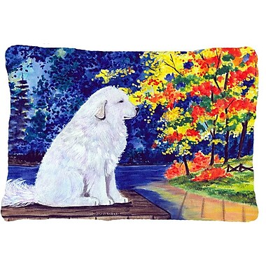 Caroline's Treasures Great Pyrenees Indoor/Outdoor Throw Pillow