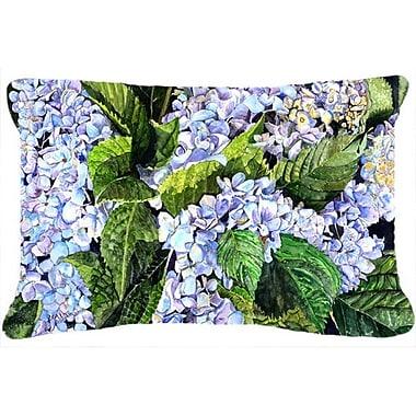 Caroline's Treasures Hydrangea Indoor/Outdoor Throw Pillow