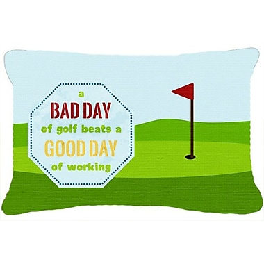 Caroline's Treasures A Bad Day at Golf Indoor/Outdoor Throw Pillow
