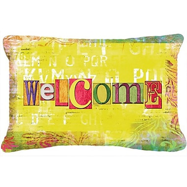 Caroline's Treasures Artsy Welcome Indoor/Outdoor Throw Pillow