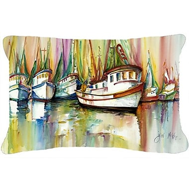 Caroline's Treasures Shrimp Fleet Indoor/Outdoor Throw Pillow