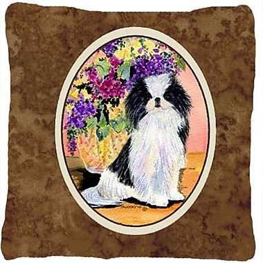 Caroline's Treasures Japanese Chin Indoor/Outdoor Throw Pillow