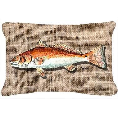 Caroline's Treasures Red Fish Indoor/Outdoor Throw Pillow
