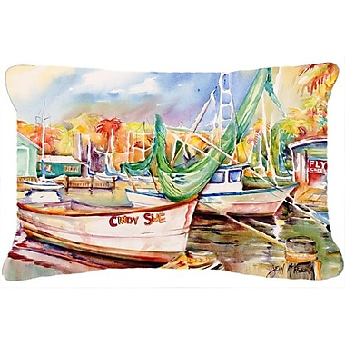 Caroline's Treasures Sailboat Cindy Sue Indoor/Outdoor Throw Pillow